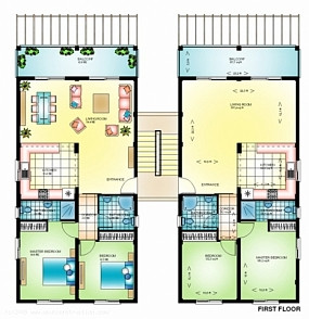2 Bedroom Penthouse of 98m² in Bahceli
