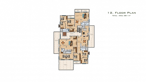 Luxury 3 Bedroom Penthouse of 150m² in City Center of Famagusta