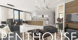 3 Bedroom Penthouse of 157m² + 87m² Terrace in City Center of Kyrenia