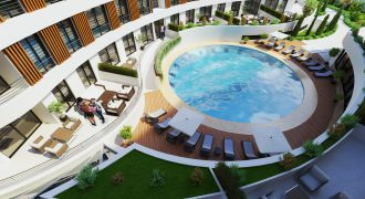 Luxury 2 Bedroom Apartment of 74m² in City Center of Kyrenia
